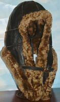 NEW Handmade mens Sheepskin Bomber Aviator Pilot Fur Hat Real Leather size XL