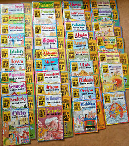 Highlights Which Way USA States 37 MAGAZINES Puzzle Books + 36 MAPS Lot
