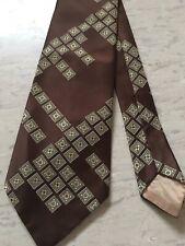 """Debenhams brown vintage geometric pattern smart tie 4.2"""" wide 54"""" long"""