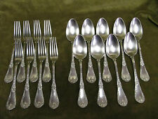 late 19c french sterling silver dessert luncheon set Louis XVI st Compère 868g