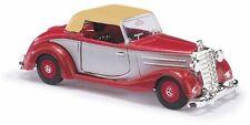 Busch H0, 40528, MB 170S Cabrio casa Bi-colore, Rosso, Veicolo Modello 1:87