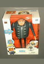 Despicable Me 2 ME2 Gru The Talking Genius Talking Large Action Figure Doll NEW