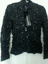Ladies Fancy Cocktail Zipper down jacket top by aDressing Woman Sz XS Stretch