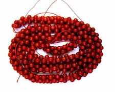 red genuine Coral 8 shape 6x3mm gemstone beads