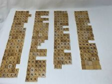 U-Pick Scrabble Board Game Tiles Original Wood with Black Lettering Crafts