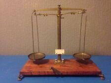 Becker & sons vintage precision brass balance scales wooden base Rotterdam