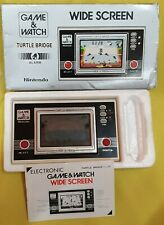 GAME and WATCH - TURTLE BRIDGE Hand Held Console with Original Box & Manual