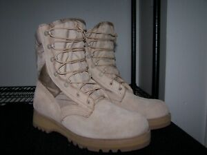 New Altama military combat boots mens 10W tan 10E belleville 390 USA army wellco