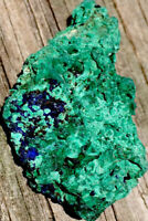 33g  NATURAL DEEP BLUE AZURITE/MALACHITE CRYSTAL MINERAL ROCK  Laos  REIKI