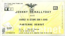 RARE / TICKET BILLET CONCERT - JOHNNY HALLYDAY : LIVE A AMNEVILLE - FRANCE 2009