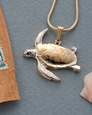 "Sea Turtle Pendant, Hand Cut Sea Turtle Medallion,1-1/8""dia, ( # 603 )"