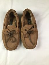 Mens CLARKS MOCASSIN STYLED 8M slippers Brown Shoes
