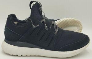 Adidas Tubular Radial Textile/Suede Trainers S80114 Black/White UK8.5/US9/EU42.5