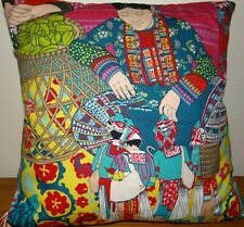 "Manuel Canovas,  Voyage en Chine, cushion cover  15 x 15"""