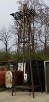 Farm Windmill Tower 20 feet Nice Deer Hunting Stand or radio antenna tower too!
