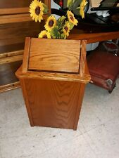 Small Oak Flip Top Trash / Recycling Bin - Beautiful