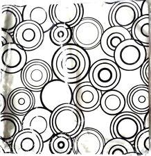 THROW PILLOW CASE CUSHION COVER WHITE BLACK HOME DÉCOR SOFA HANDMADE 17 INCH