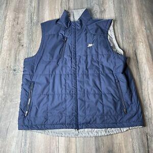 Zero Restriction Tour Series Blue/ Gray Reversible Golf Vest  Jacket Men's XXL