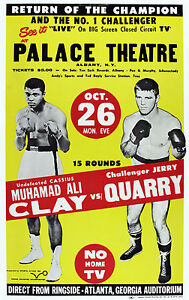 "Ali - Quarry, Closed Circuit Fight Poster (Oct 1970), 6.5""x10"" Lithograph Photo"