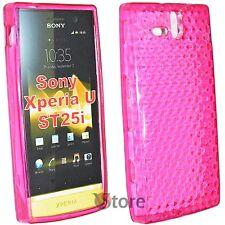 Cover Custodia Per Sony Xperia U ST25i Silicone Gel TPU Fucsia + Pellicola