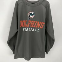 NFL Team Apparel Youth Long Sleeve Miami Dolphins Graphic T-Shirt SZ M Gray