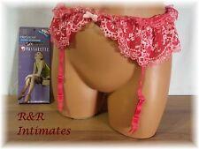 Victoria's Secret Pink Floral Studded Lacey Garter Belt, Size M/L