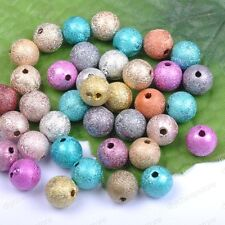 10pcs Mixed Stardust Acrylic Round Ball Charms Spacer Beads DIY  12MM