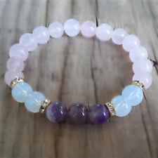 bracelet rose quartz amethyst healing Moonstone amethyst rose quartz gemstone