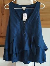 NWT J. Crew size 12 tulip ruffle cami SOLD OUT dark blue