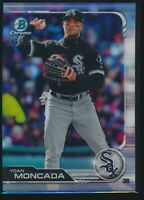 2019 Bowman Chrome Refractor 21 Yoan Moncada Chicago White Sox 046/499