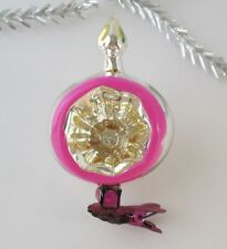 Top Topper Ball Deep Indent Vintage Xmas Decor Christmas Russian Glass Ornament