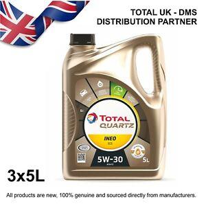 Total Quartz Ineo ECS 5w-30 Engine Oil (3x5ltr)