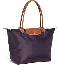Longchamp Le Pliage  Large Purple Tote Handbag Travel bag 145 New
