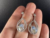 Vintage Swarovski Earrings Faceted Crystal Rhinestone Dangle Drop Post Signed