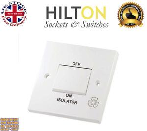 HILTON 10A Triple Pole Fan Isolator Switch White ***Best Quality***