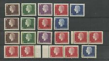CANADA--Set on Cameo's regular, with G overprint various varieties