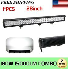 "28""Inch 180W Led Work Light Bar Offroad Driving 4WD Truck SUV 30""32"" 150W"