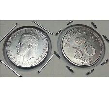 2 MONEDAS DE 50 CENTIMOS DE 1.980 *80  MUNDIAL DE ESPAÑA 1.982 S/C. VER DETALLES