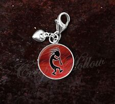 925 Sterling Silver Charm Kokopelli fertility flute player