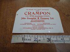 Vintage Retro Old Plastic Advert CRAMPON SAUSAGE BINDER Wythenshawe Manchester