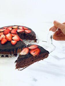 Clear Acrylic Cake Knife In Gift Box, Wedding Bridal Cake And Server Knife Set