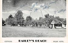 OXLEY ONTARIO CANADA RAVINE HOTEL & COTTAGES AT BAILEY'S BEACH POSTCARD