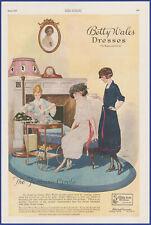 Vintage 1920 BETTY WALES Dresses Women's Fashion Ephemera 20s Print Ad