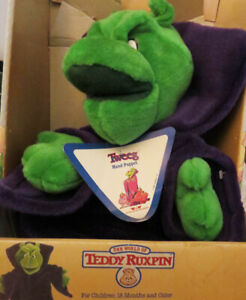 "Teddy Ruxpin TWEEG Worlds Of Wonder 1986 Plush 16"" Hand Puppet NEW IN BOX"