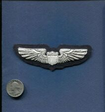 USAF US AIR FORCE PILOT WING HAND MADE BULLION Hat Jacket Patch