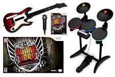 NEW Wii/Wii-U Guitar Hero WARRIORS OF ROCK Super Bundle Set kit drums mic game