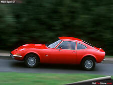 1968 OPEL GT red (side) POSTER 24 X 36 INCH Sweet!