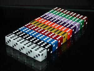 5 x Casino Würfel-Dice: W6 - Craps shooting - Seven Eleven - Las Vegas - Neu