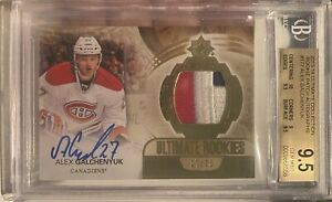 13-14 Ultimate Collection Alex Galchenyuk Rookie Patch Auto /25 BGS 9.5 2013-14