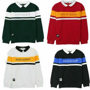 Unisex Harry Potter Hogwarts Fleece School Sweater Embroidery Warm Uniform